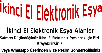 İkinci El Elektronik Eşya